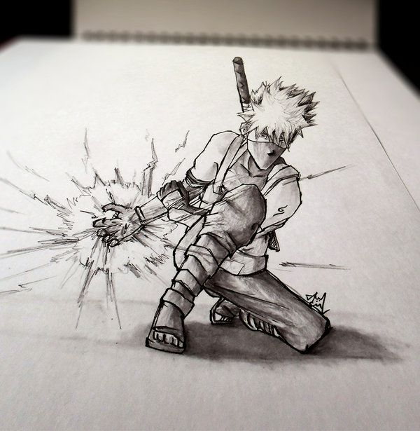 3d sketch kakashi anbu mind blowing perspective 3d drawing art by iza
