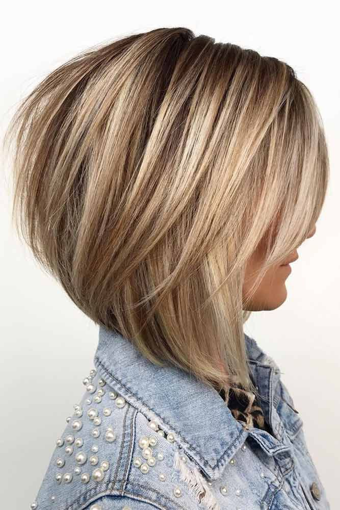 24 Flawless Haircut Ideas To Beautify All Face Shapes #layeredbobhairstyles