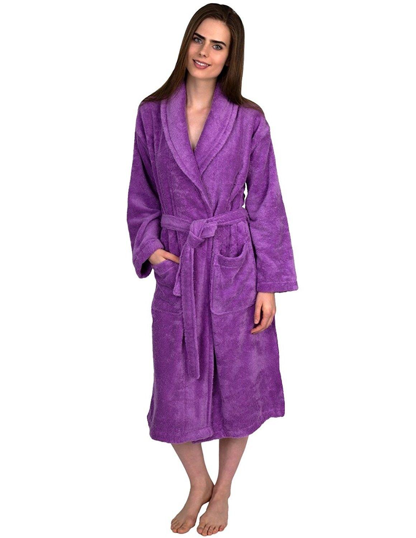 9201571c688a Women s Robe- Turkish Cotton Terry Shawl Bathrobe Made in Turkey ...