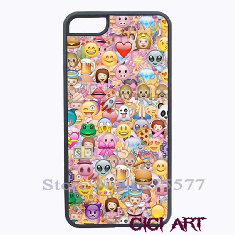 Emoji Emoticons Cover Case For Iphone 4 4s 5 5s 5c 6 6s Plus Samsung Galaxy S3 S4 S5 Mini S6 Edge Note 2 3 4 5 A3 A5 A7 2015 E5 Phone Bags Cases Iphone C