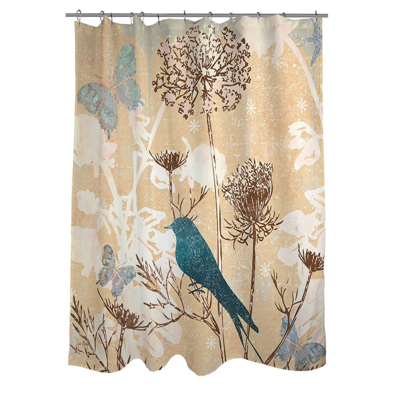 The Gray Barn Ivy Hollow Polyester Bird Shower Curtain With