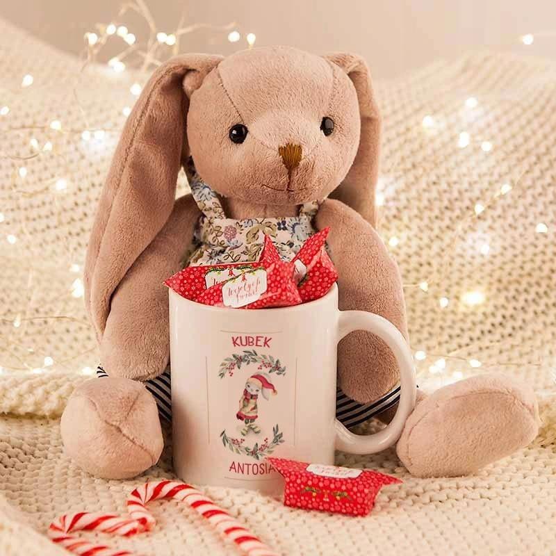 Prezent Swiateczny Dla Dziecka Maskotka Kubek Imie Allegro Pl Szukacie Pomyslu Na Efektowny Prezent Swiateczny Dla Dziecka Idealnym In 2020 Teddy Bear Teddy Animals