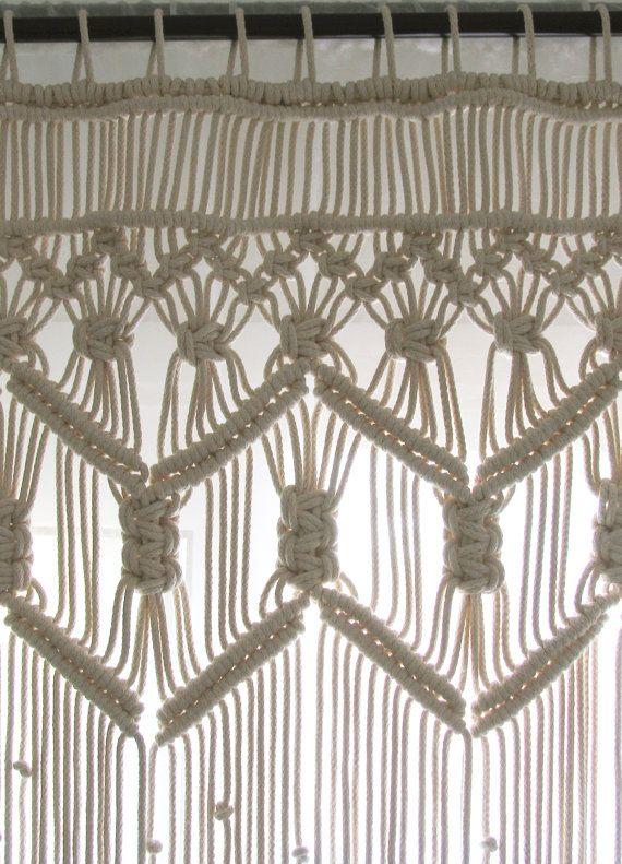 Macrame cortina personalizada bohemio puerta cortina boho chic ...