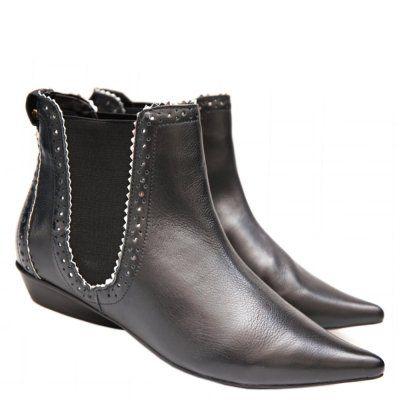 71557bbfa Bota cano curto estilo Chelsea Boots lançamento Sapri by Moselle. Forma  tradicional da marca que