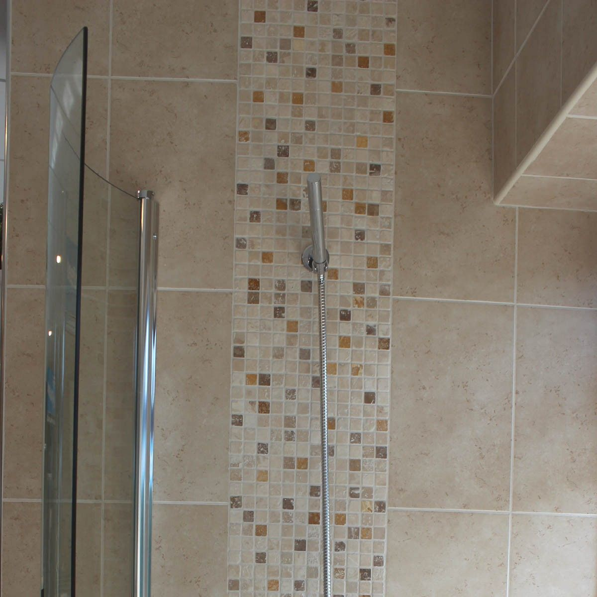 Matt Finished Light Beige Mottled Ceramic Wall Tile In Addition Glamorous Mosaic Feature Tiles Bathroom Design Decoration