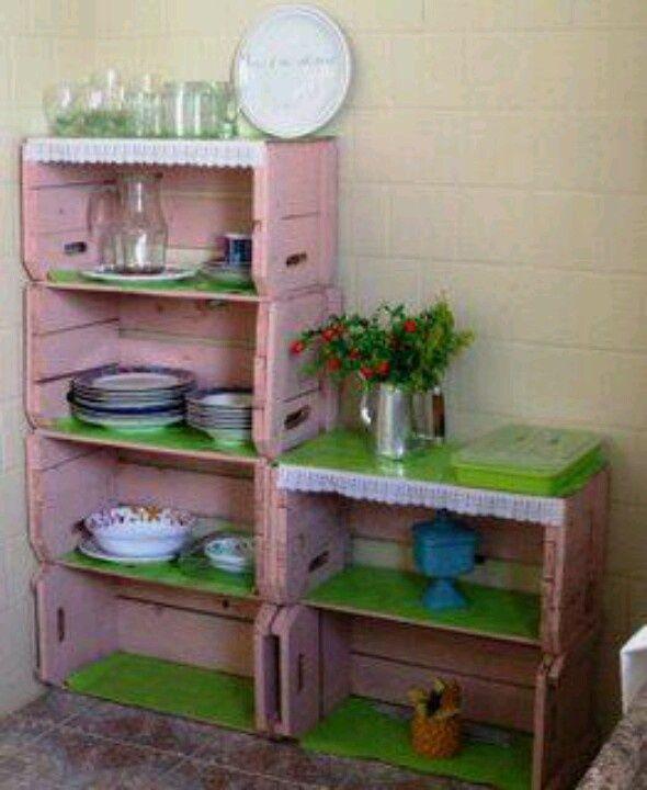 Resultado de imagen para ver ideas para utilizar cajas de - Muebles para cocina economica ...