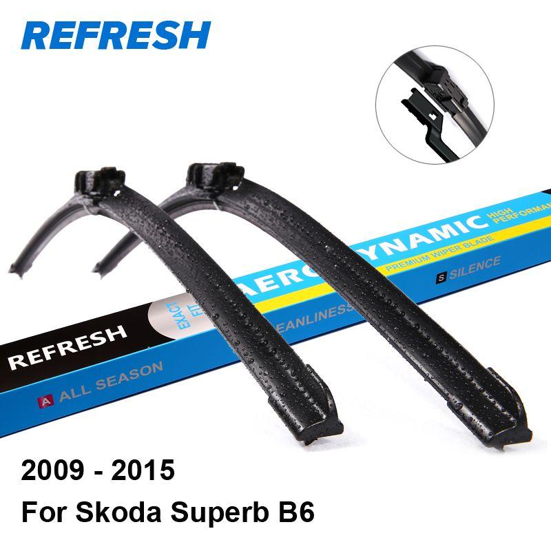 Refresh Wiper Blades For Skoda Superb B6 24 18 Fit Push Button Arms 2009 2010 2011 2012 2013 2014 2015 Affiliate Windscreen Wipers Wiper Blades Fiat Doblo