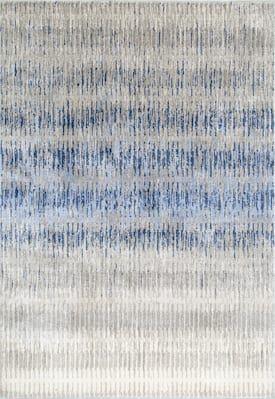 Rugs Usa Blue Factoria Flamestitch Stripes Rug Contemporary