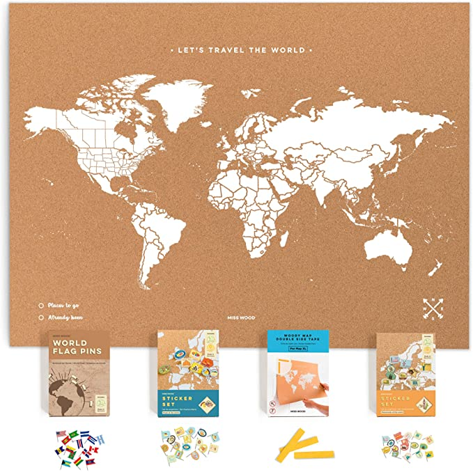 Amazon Com Push Pin Travel Map Kit Includes Cork World Travel Map World Flags Monument And Food Stick In 2020 Push Pin Travel Push Pin World Map Pushpin Travel Map