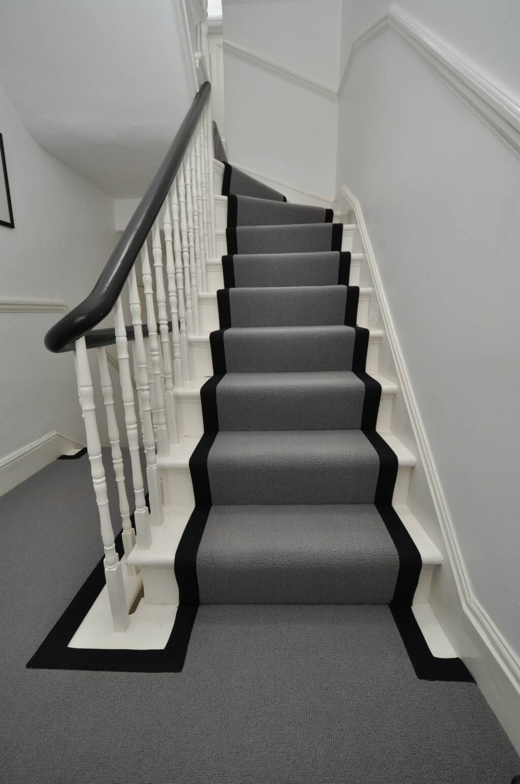 Best Grey Stair Runner With Black Binding Tape By Bowloom Ltd 400 x 300