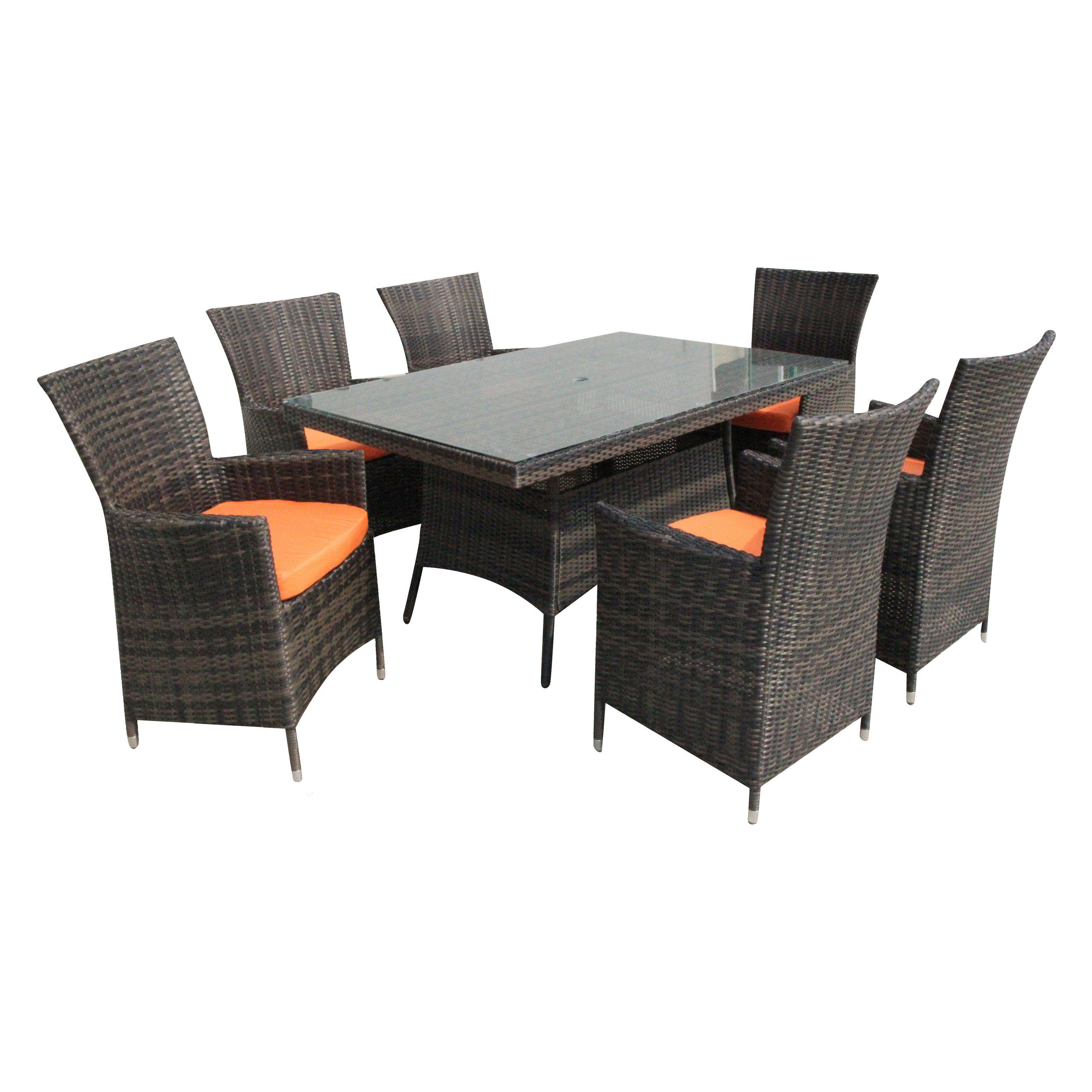 Kontiki Dominica Patio Dining Set - Seats 6 | www.hayneedle.com ...