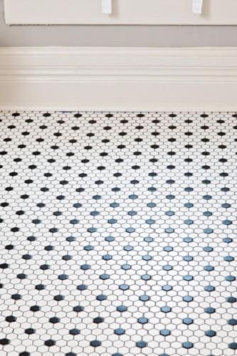 Mosaique Decor Dots Art Deco Hexagone Blanc Et Noir Par 1 M Avec