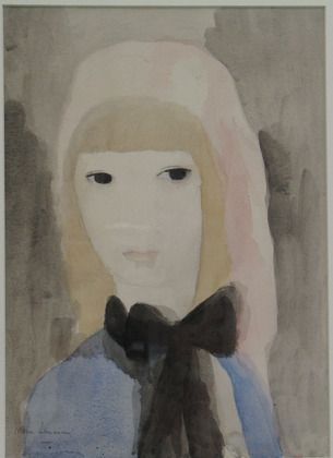 Marie Laurencin Girl With A Bow 1920 Peintre Impressionniste