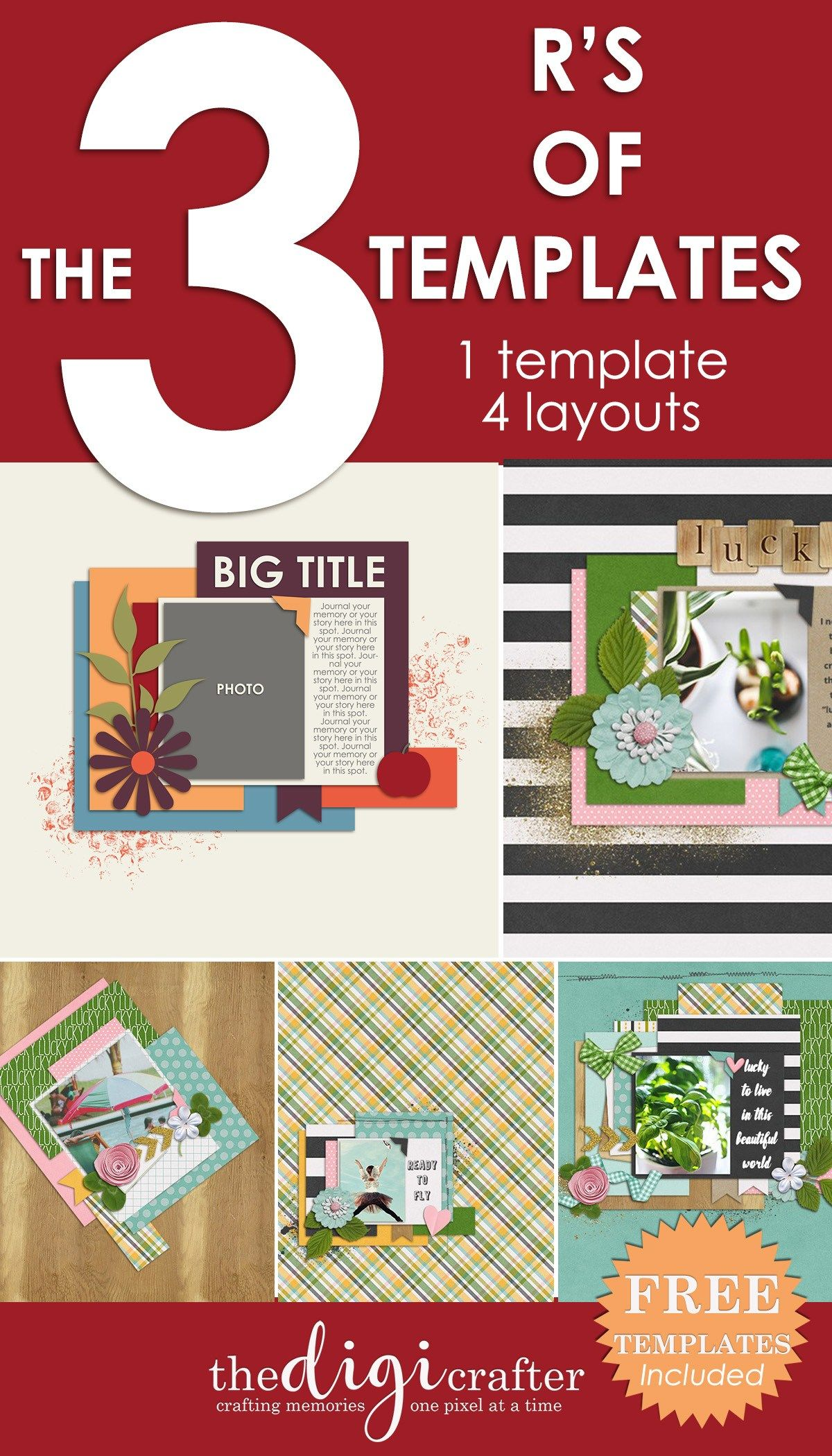 The 3 R s of Templates Digital Scrapbooking Tutorials