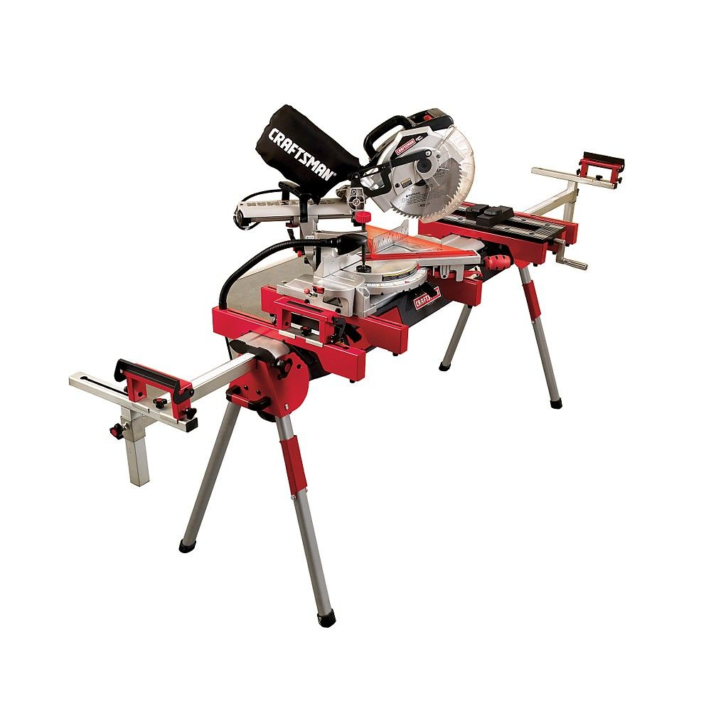 Miter Saw Table Craftsman 10 In Compound Miter Saw With Stand Power Tools Building Nice