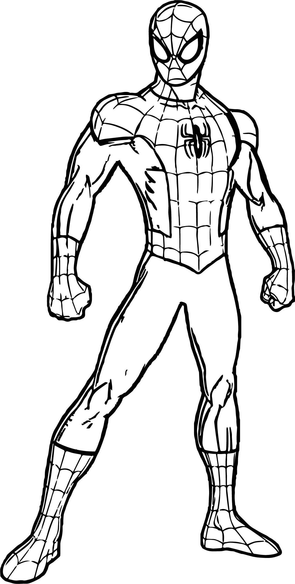 Spiderman Suit Coloring Page In 2020 Superhero Coloring Pages