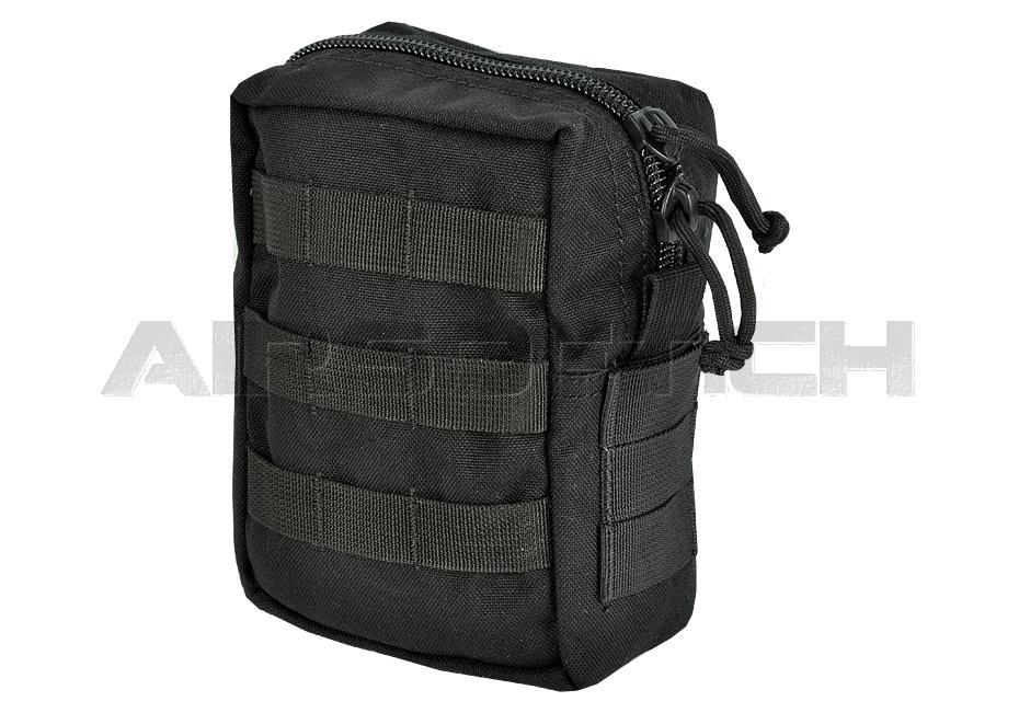 MOLLE Medium Utility / Medic Pouch Black (Invader Gear)