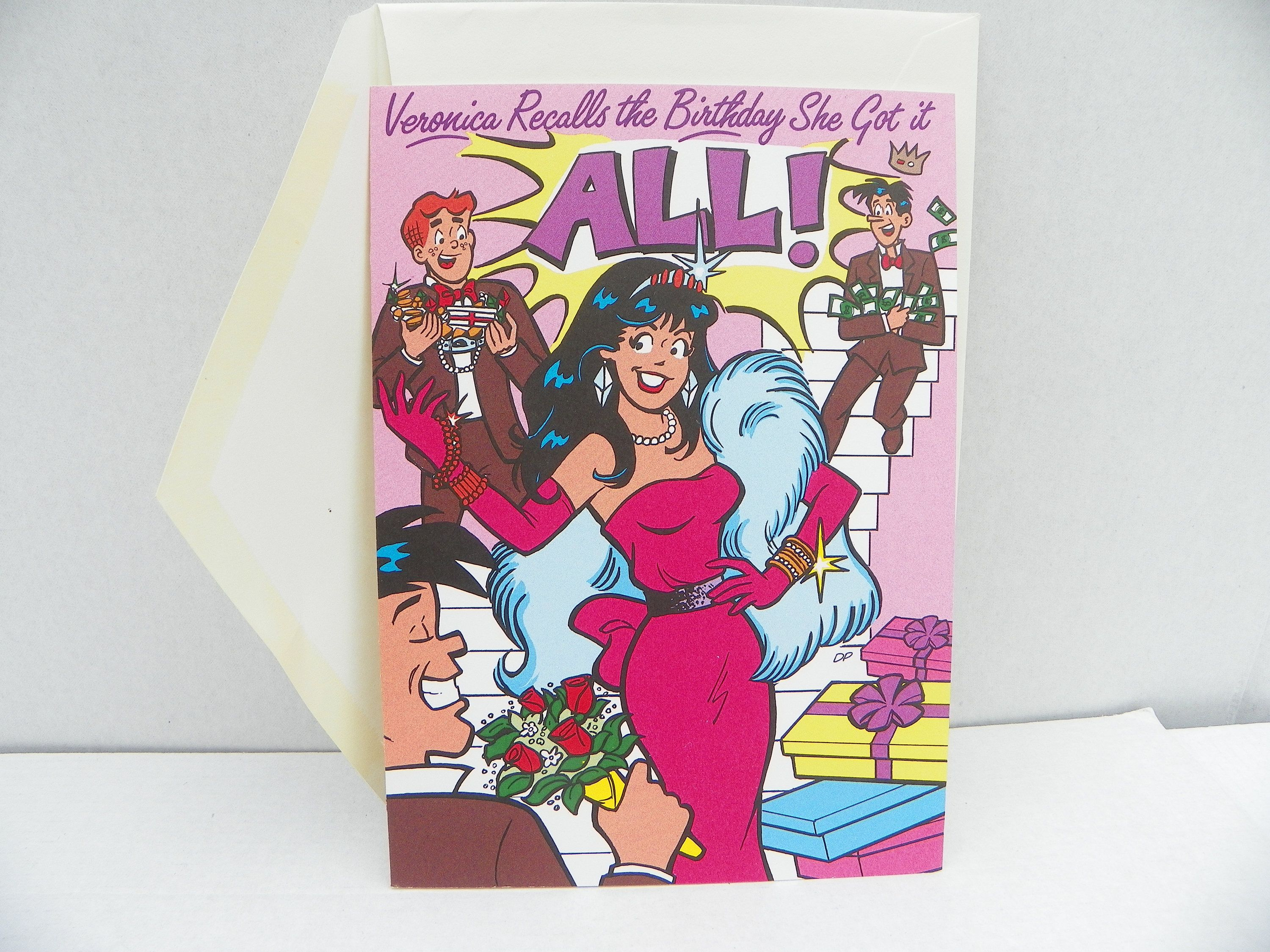 Vintage Archie Comics Veronica Greeting Card 1989 Archies
