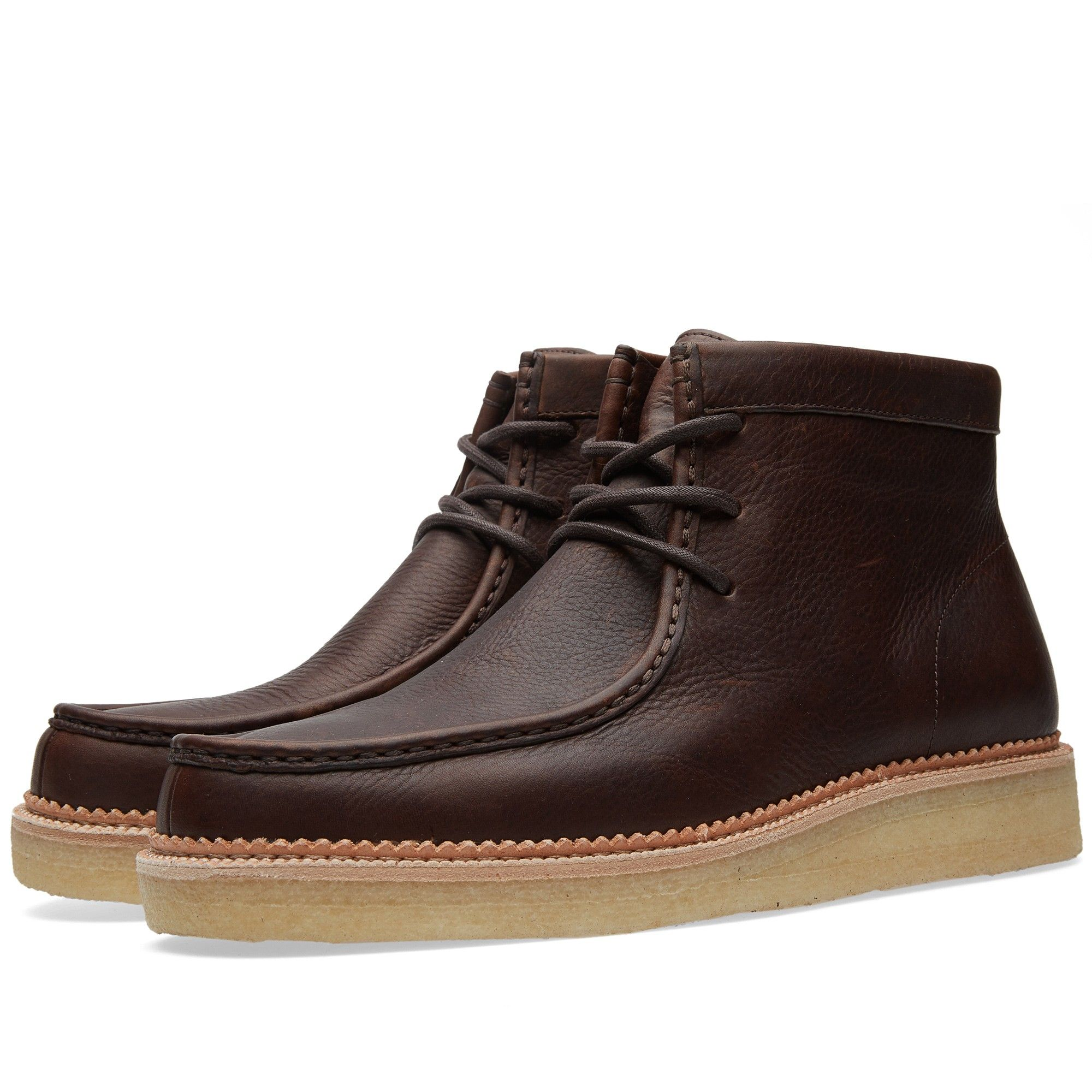 Clarks Originals Beckery Hike Boot (Dark Brown Leather)