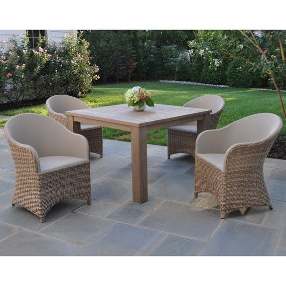 Kingsley Bate Elegant Outdoor Furniture Milano dining chair with