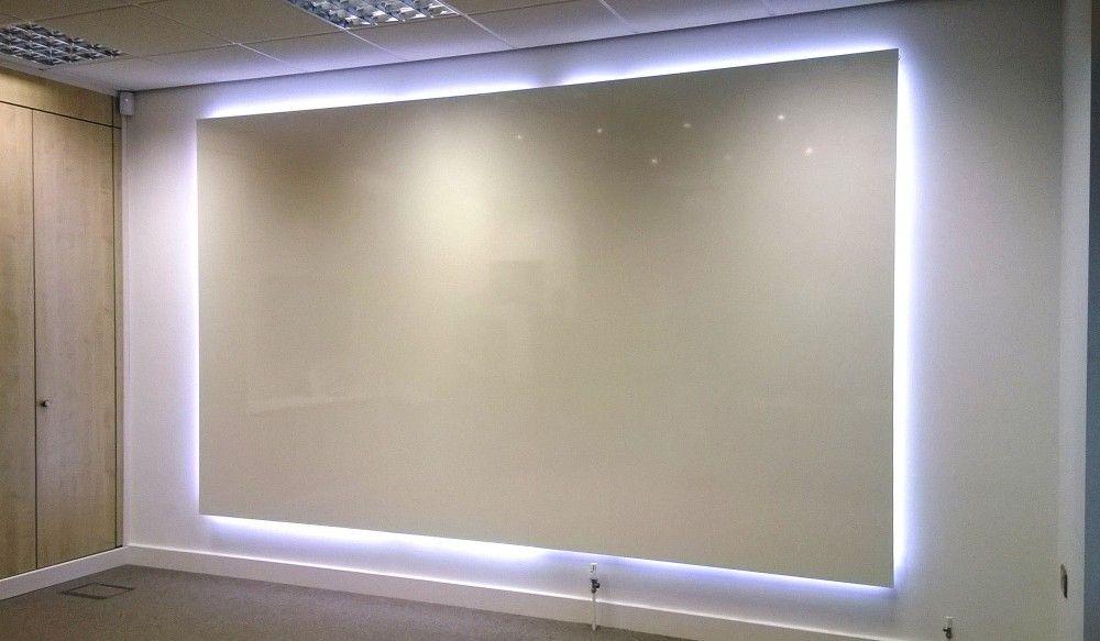 backlit whiteboard logo visual