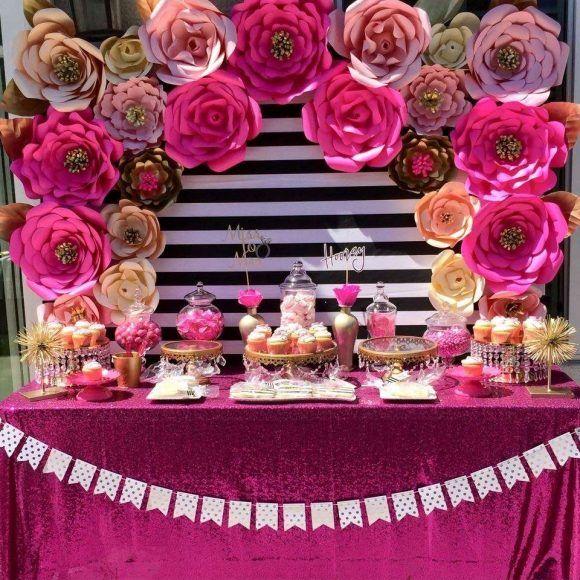 bridal shower paper flower backdrop catchmypartycom