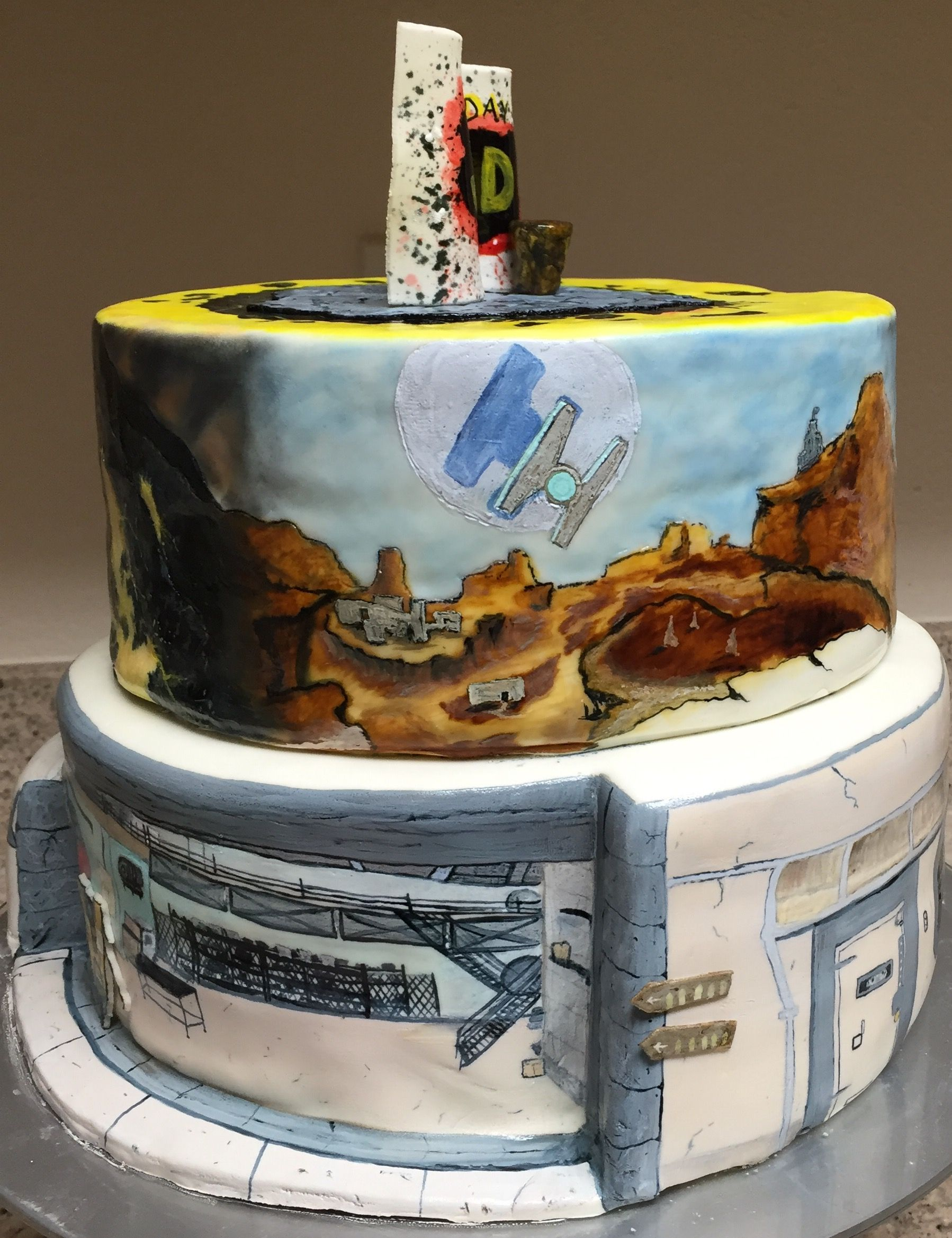 Hand-painted Borderlands 2 Birthday Cake