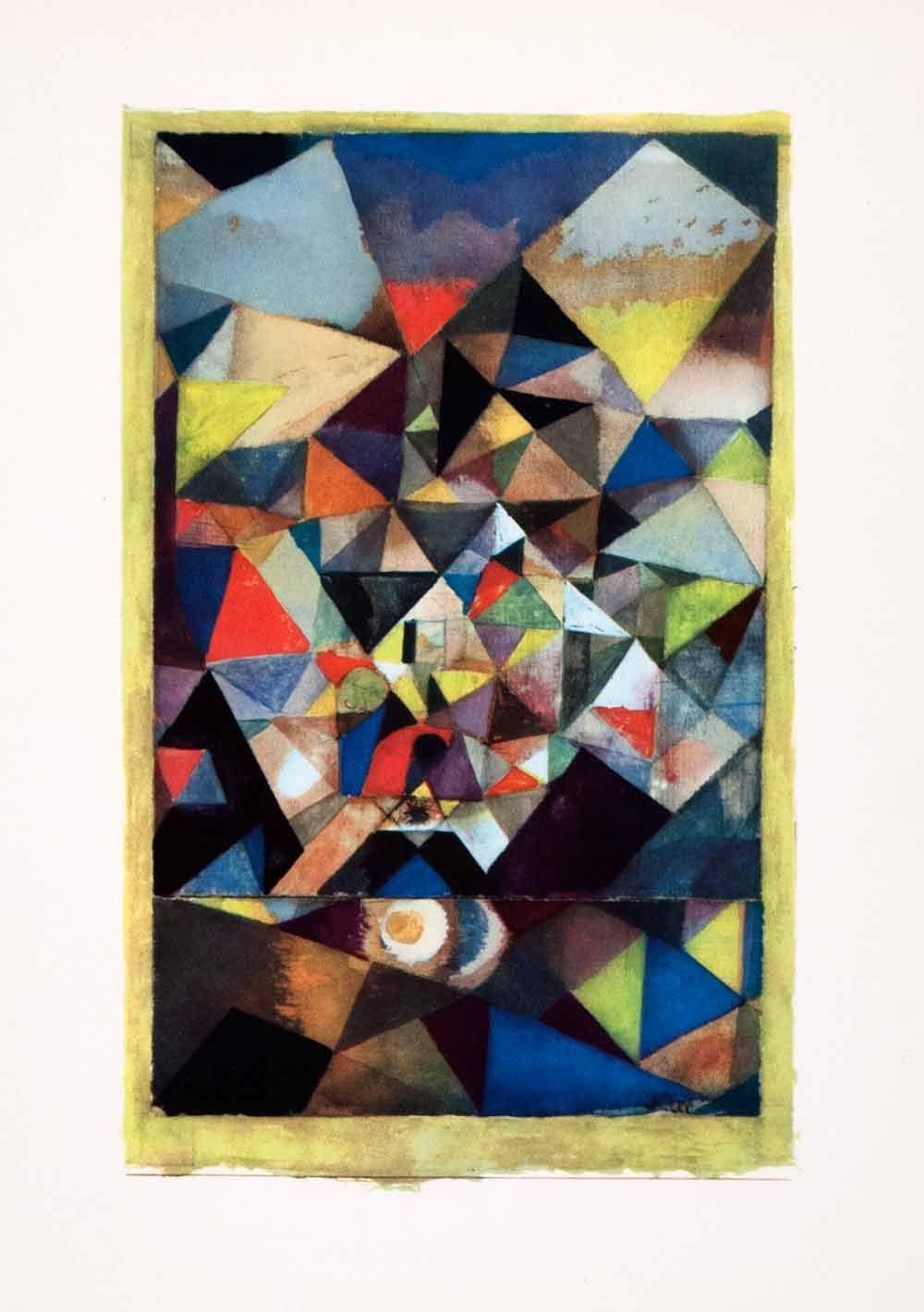 1969 Color Print Of German Swiss Painter Paul Klees 1879 1940 Mit
