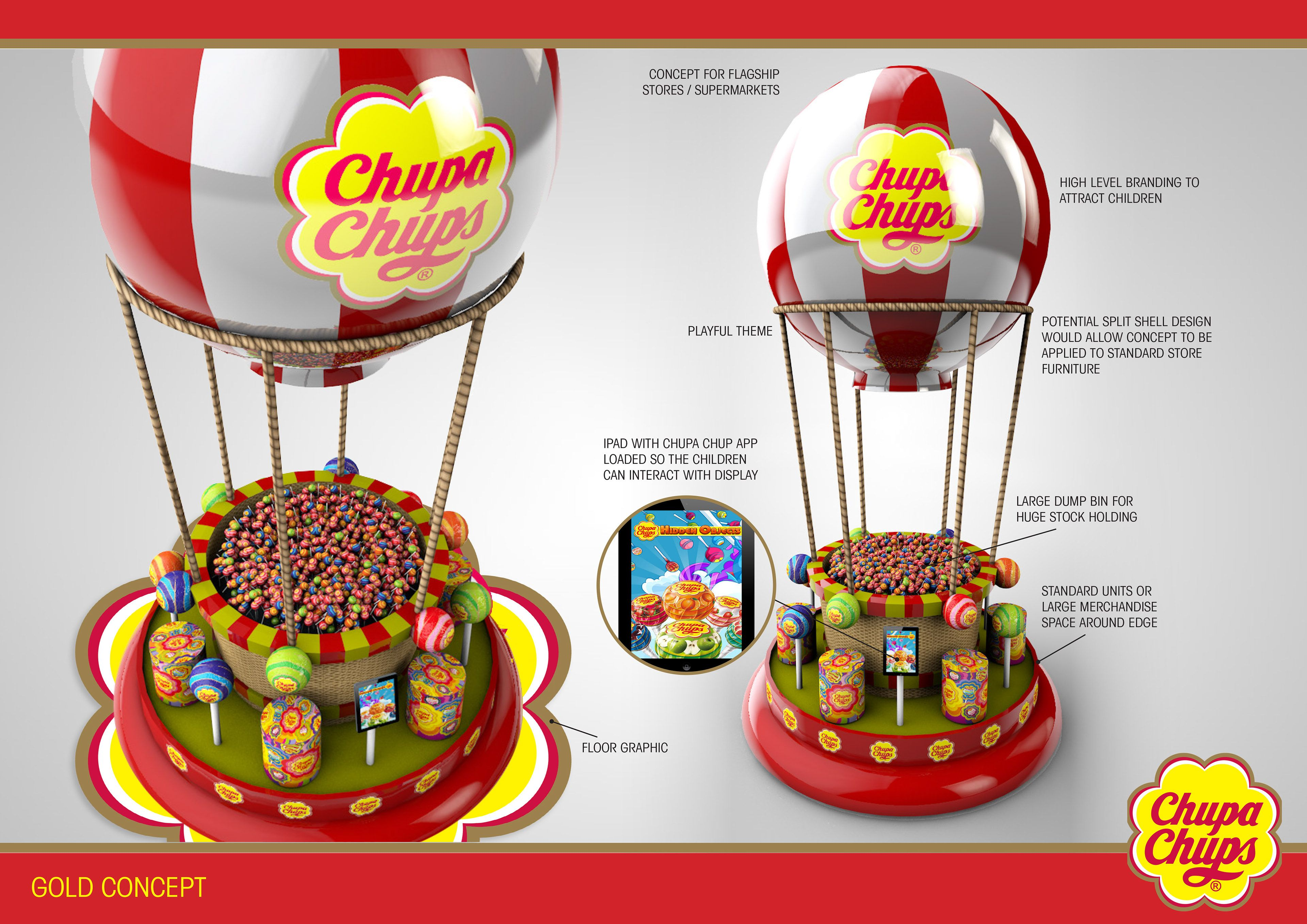 Designs Developed For Perfetti Van Melle Owners Of The Chupa Chups  # Muebles Martinez Y Riquelme
