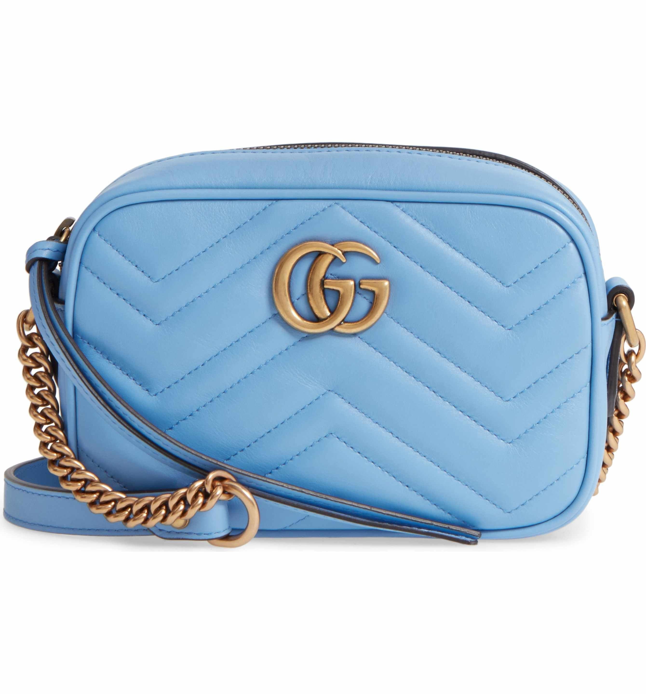 Gucci Small GG Marmont 2.0 Matelassé Leather Camera Bag