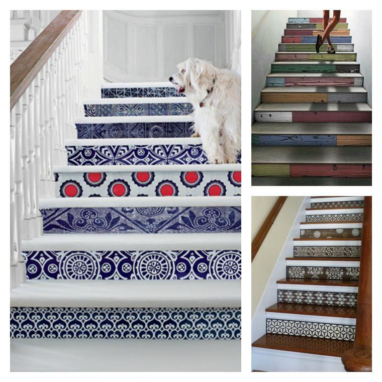 D co escalier des id es pour personnaliser votre - Peindre contremarche escalier ...