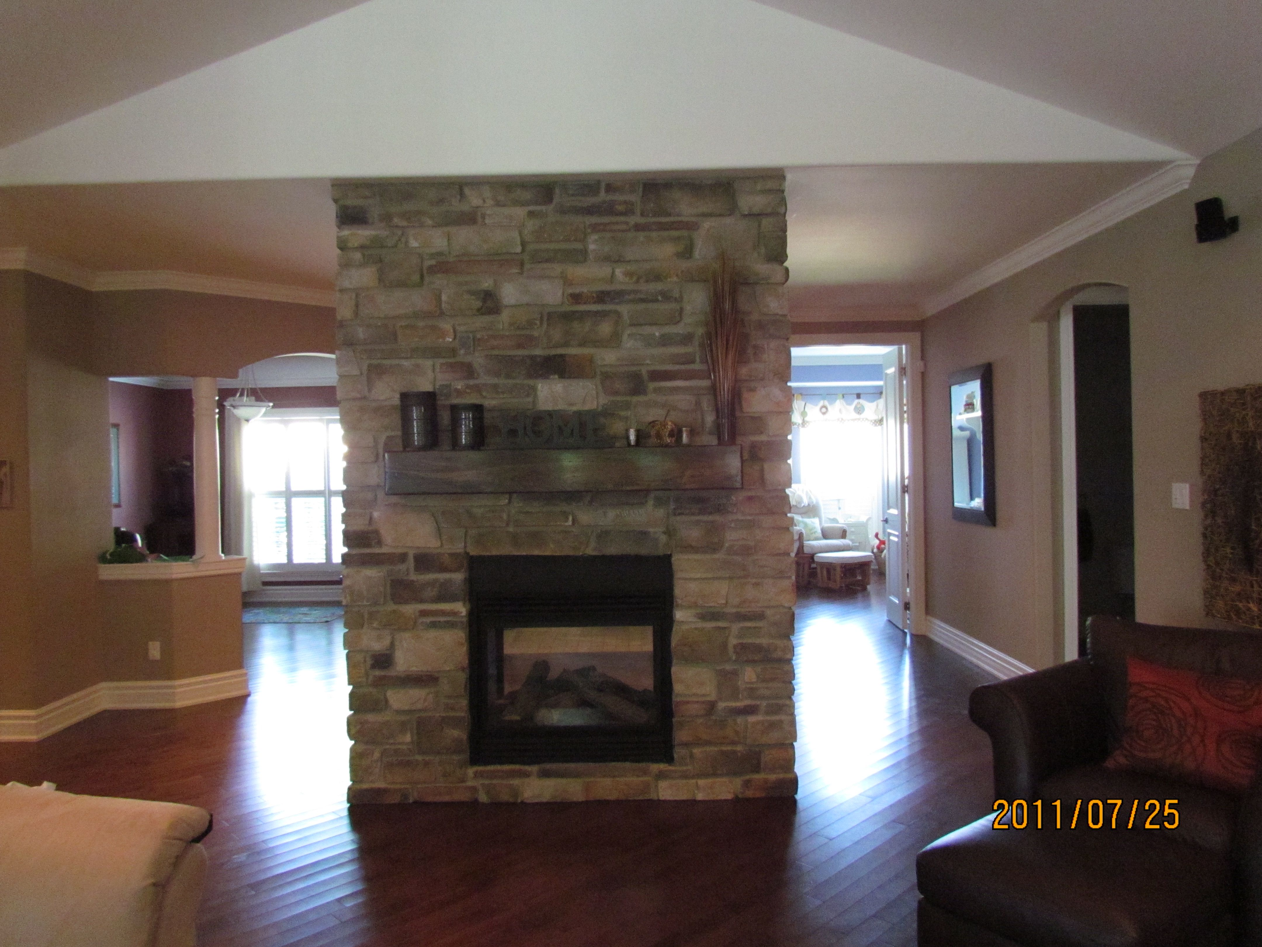 Added Elegance with a Double Sided Fireplace | Double sided ...