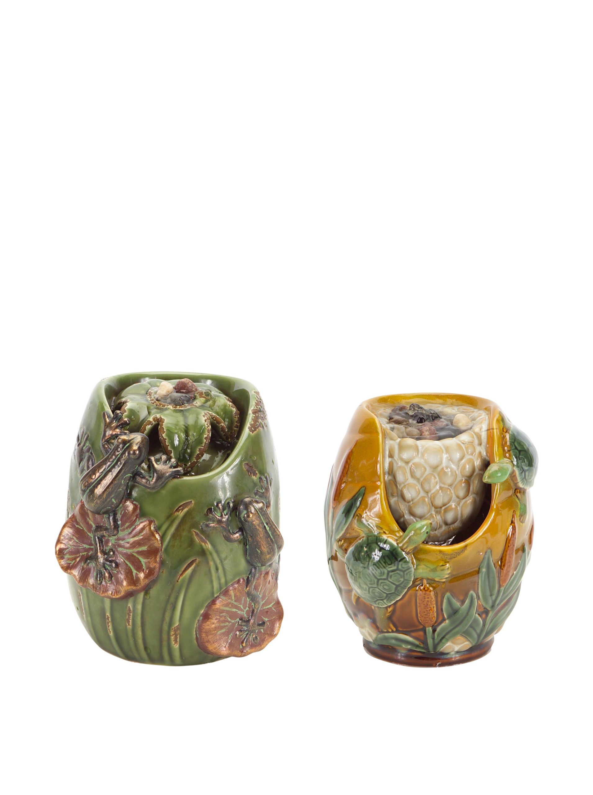Melrose International Set of 2 Mini Tabletop Fountains