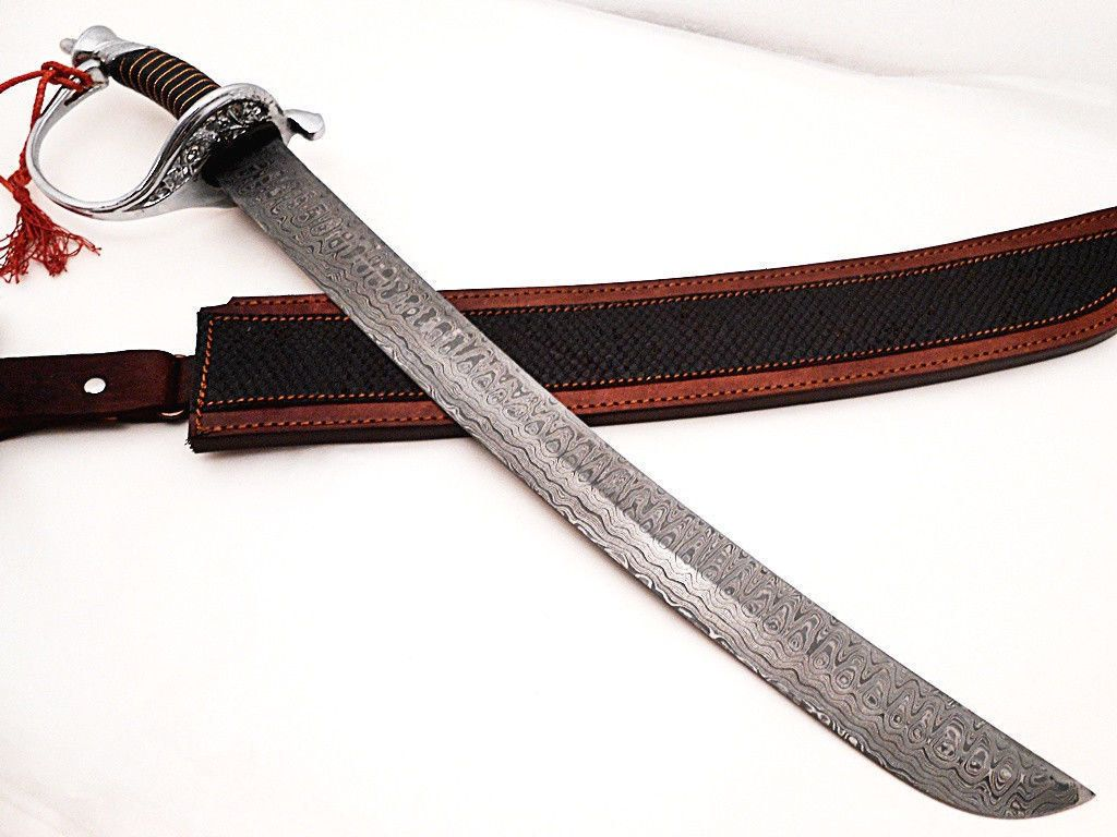 Damascus handmade sword by Allknivestrading on Etsy