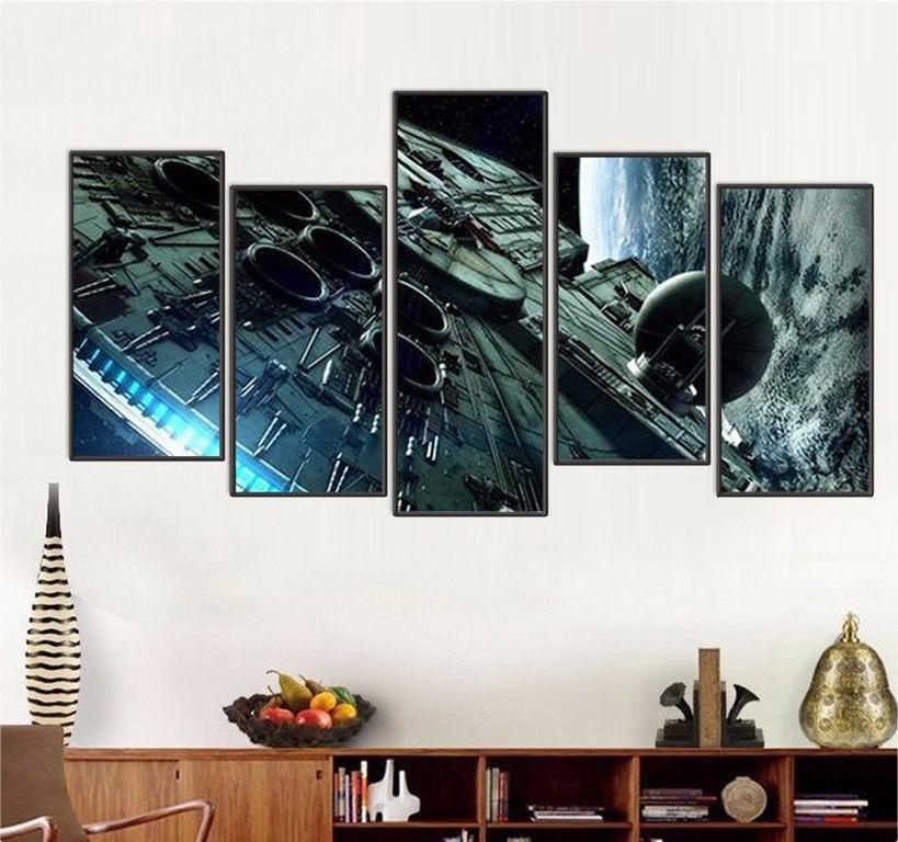Millennium Falcon 5 Piece Canvas Framed Wall Art