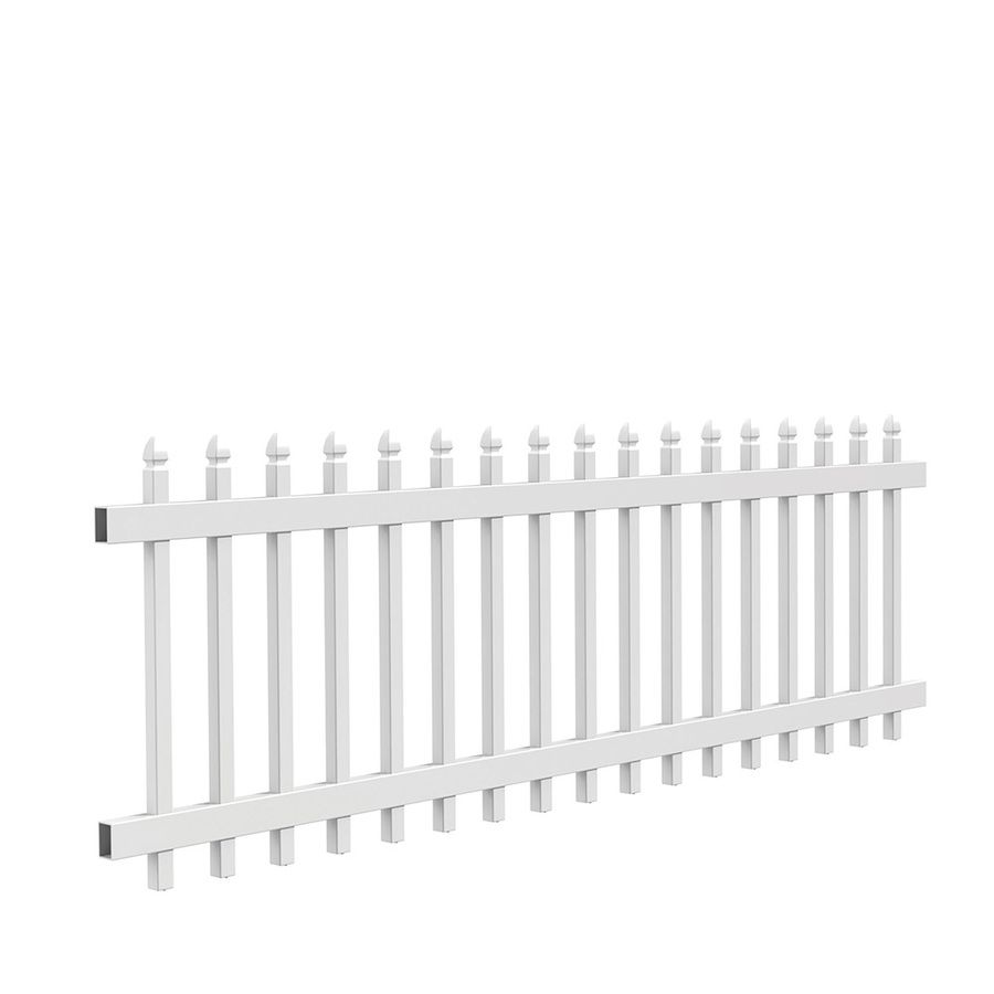 Freedom Pre Assembled Newport White Vinyl Fence Panel