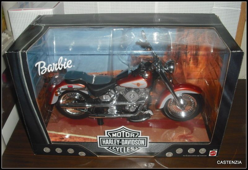 NRFB BARBIE DOLL MATTEL 1999 HARLEY DAVIDSON #1 FATBOY MOTORCYCLE CHOPPER BIKE  #Mattel