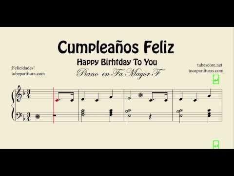 Youtube Happy Birthday Wishes Sheet Music Happy