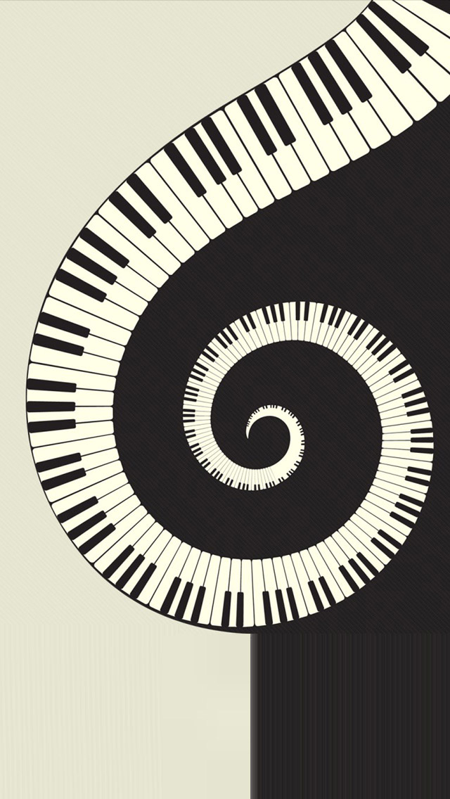 Black and white Rotating piano HD iPhone 5 WallpapersSci