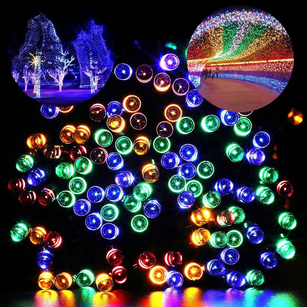 30 ways to use outside christmas lights to deck your halls this outdoor christmas multicolor fairy lights mozeypictures Images