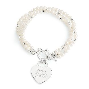 Personalized Triple Strand Freshwater Pearl Bracelet With Free Keepsake Box Things Remembered