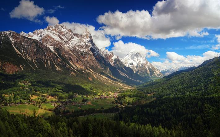 Scarica Sfondi Dolomiti Valle Di Montagna Estate Montagna Catena
