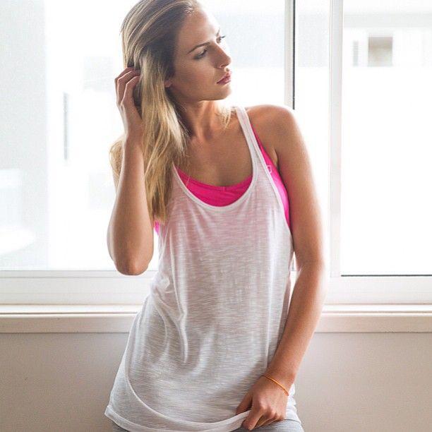 Slouchy gym tank & bright colour sports bras xx Follow us on ...