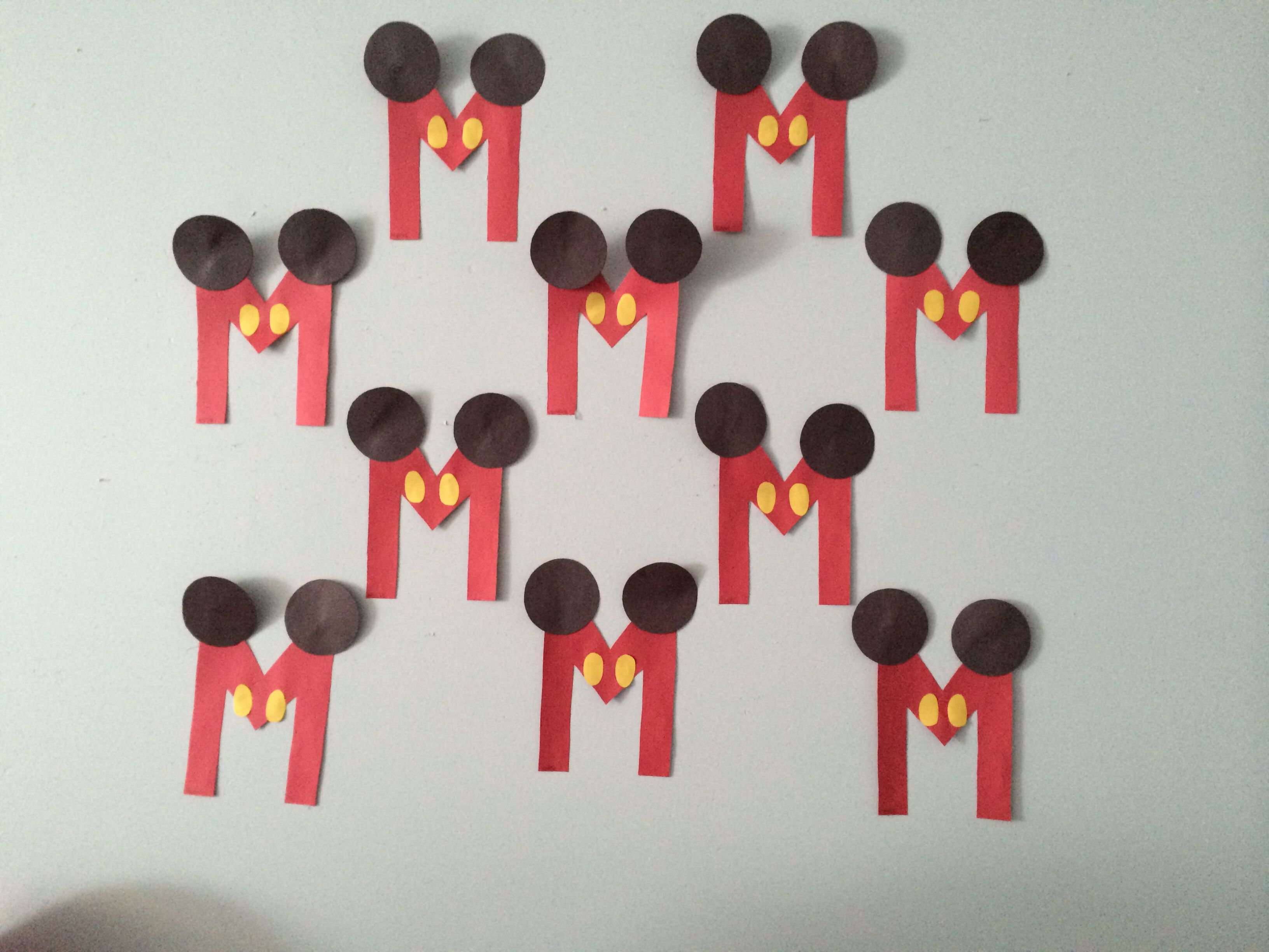M Is For Mickey Mouse Artsandcrafts Letterm
