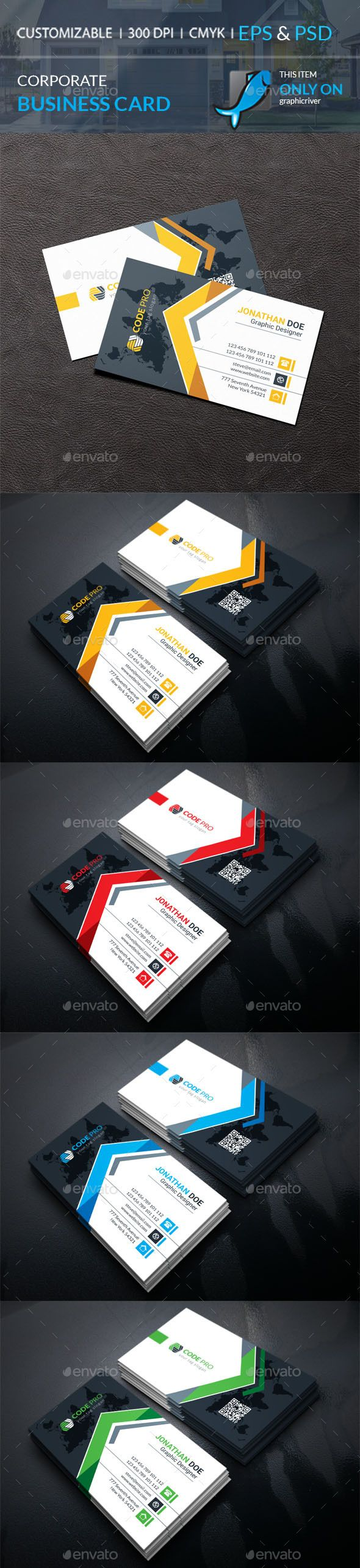 Portrait Carte De Visite Corporate Business Card Template PSD Vector EPS AI Illustrator