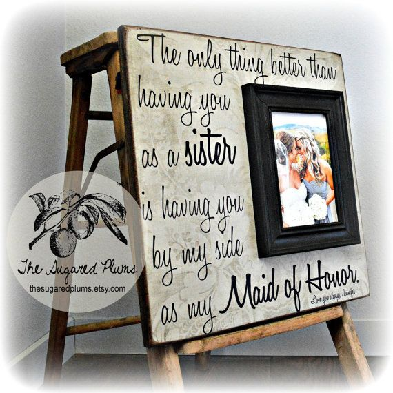 Personalised Thank You Bridesmaid Photo Frame By Mirrorin