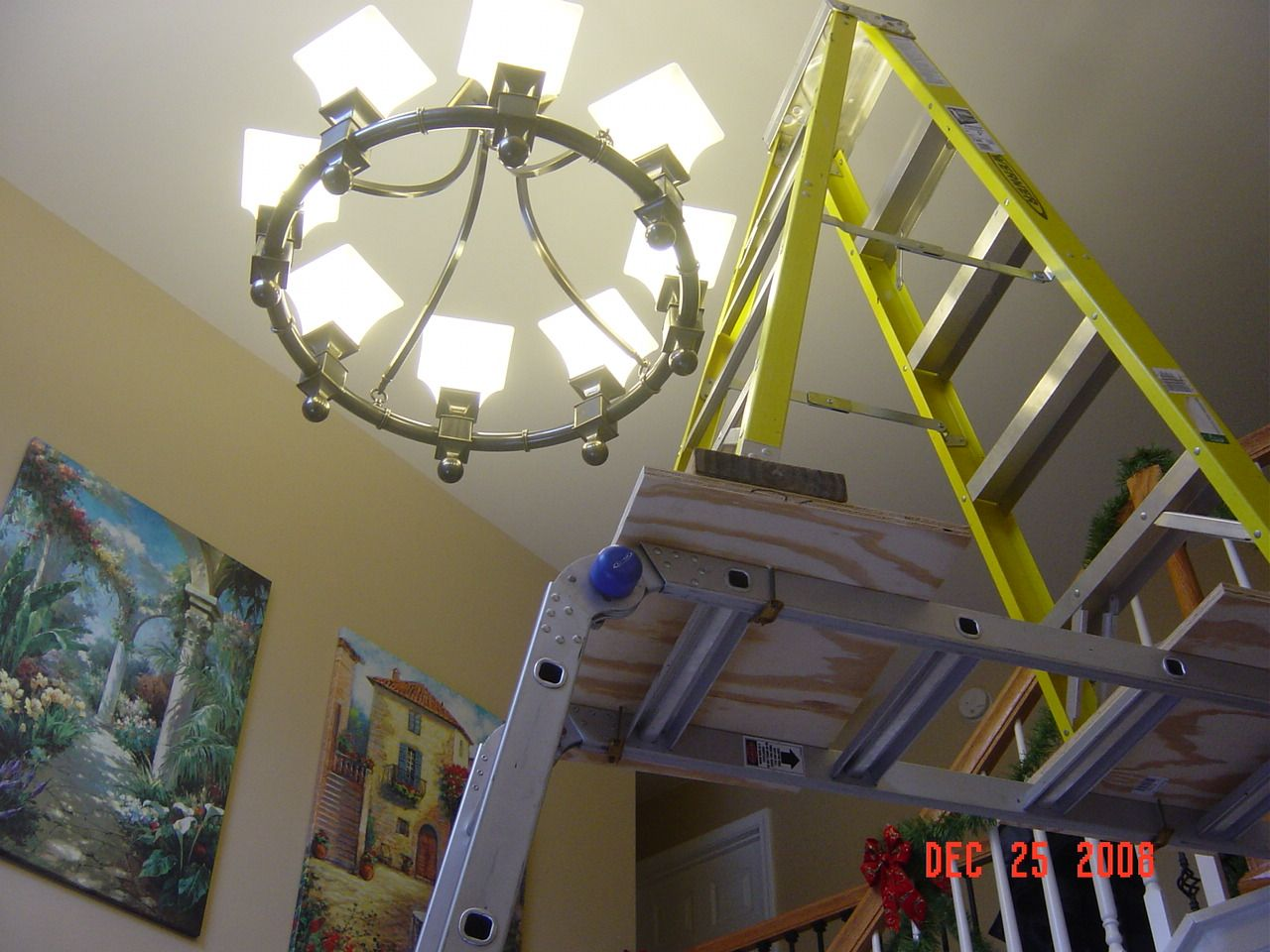 Replacing chandelier Entry is 2 stories talldsc01823