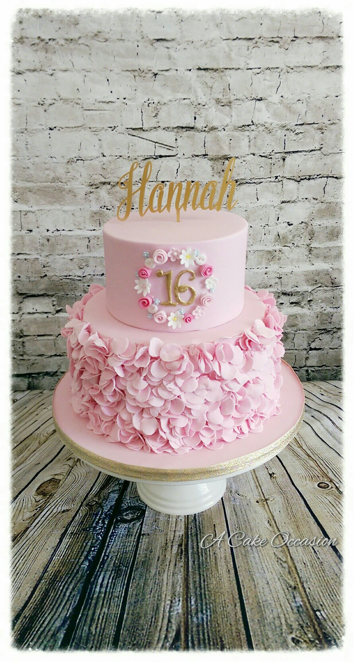 Pretty Pink 16th Birthday Cake