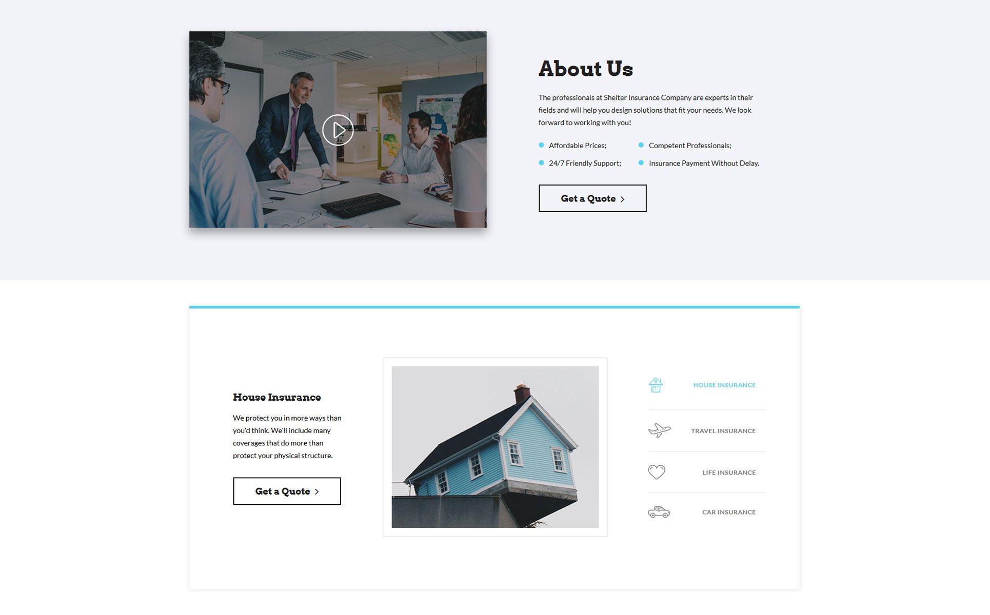 Shelter Insurance Agency Multipage HTML5 Website