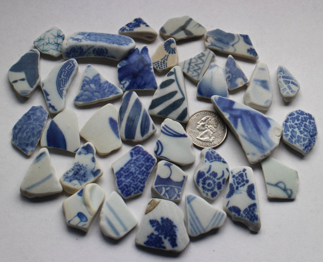 Asian porcelain shards